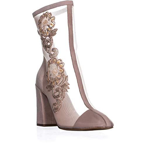 Avec Les Filles Womens Reagan Closed Toe Mid-Calf Fashion Boots, Pink, Size 9.0