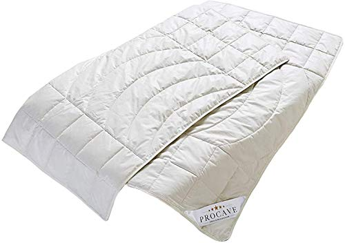 PROCAVE Kamelhaar Exquisit Qualitäts-Bettdecke für den Sommer 200x200cm, leichte Sommerbettdecke, Kamelhaardecke, aus der Natur, atmungsaktiv & wärmeausgleichend, 100% aus Deutschland