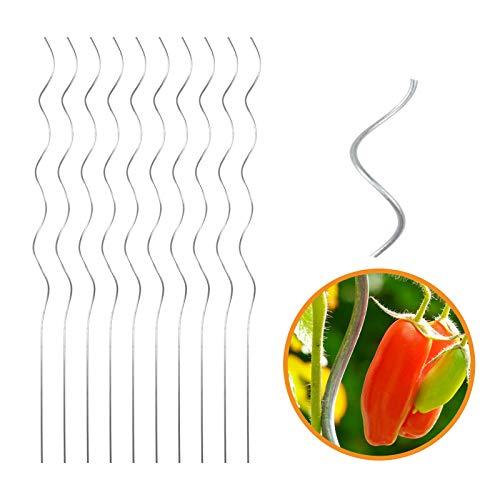 INDUTEC Tomatenspiralstab Tomantenstab Spiralstab Rankstab - Ø 6,0 mm x H: 180 cm (10 Stück)