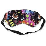 DJNGN Máscara de ojos colorida Boxer perro máscara para dormir ajustable capaz máscara de dormir dormir dormir ojos máscara para ojos venda