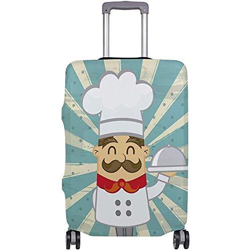 Funda de Equipaje Chef de Cocina Vintage Protector de Maleta Equipaje de Viaje Talla S