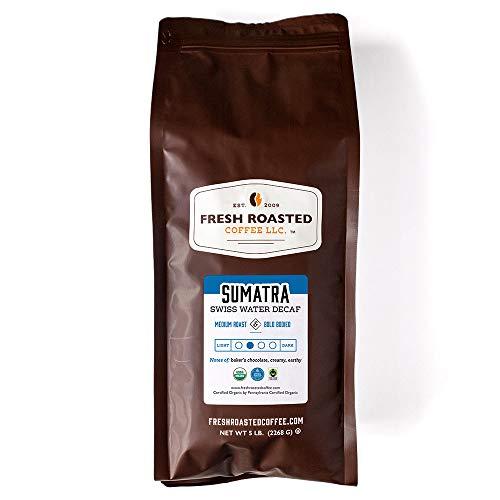 Fresh Roasted Coffee LLC, Organic Sumatra Swiss Water Decaf Coffee,...