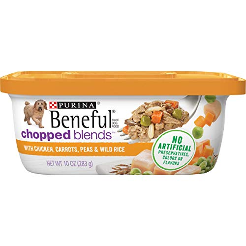 Purina Beneful Wet Dog Food, Chopped Blends With Chicken - 10 oz. Tubs...