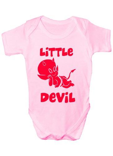 Little Devil ~ Body amusant ~ cadeau pour bébé garçon/fille 6-12 ans Rose