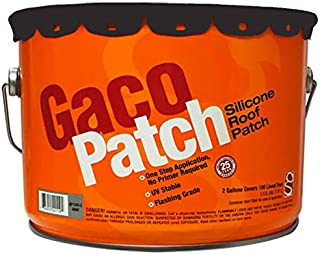 Gaco Patch Fiber Reinforced Silicone Roof Patch - 2 Gallon Pail (Black)