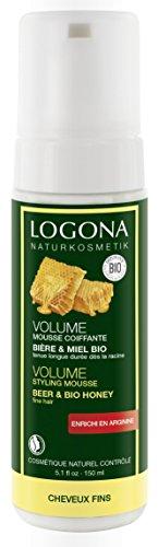 Mousse Coiffante Volume pour Cheveux Fins - Bière et Miel Bio - 150 ml - LOGONA