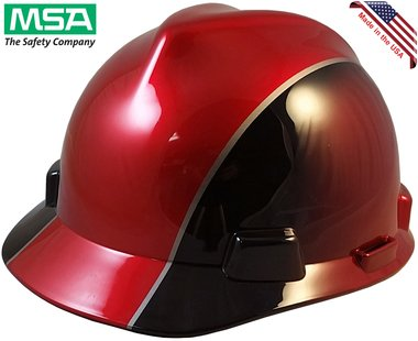 MSA Cap Style Hard Hats with Staz On Suspension - Rally Design