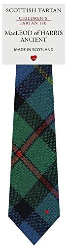 I Luv Ltd Garçon Tout Cravate en Laine Tissé et Fabriqué en Ecosse à MacLeod of Harris Ancient Tartan
