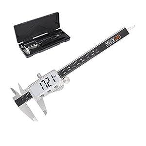 tacklife DC02avanzada calibre Digital 150mm/Caliper Vernier/acero inoxidable/ajuste de precisión/medición de diámetro calibre profundidad/dos unidades/apagado automático