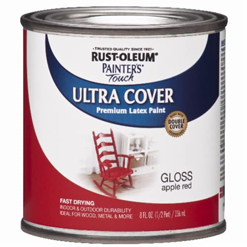 Rust-Oleum 1966730 Painters Touch Latex, Half Pint, 8 Fl Oz (Pack of 1), Gloss...