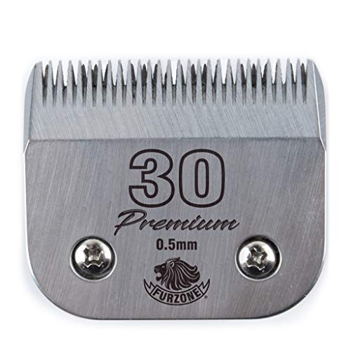 Furzone Detachable Blade - Size 30 Blade 1/50', Made of Extra Durable Japanese Steel, Compatible with Most Andis, Oster, Wahl A5 Clippers