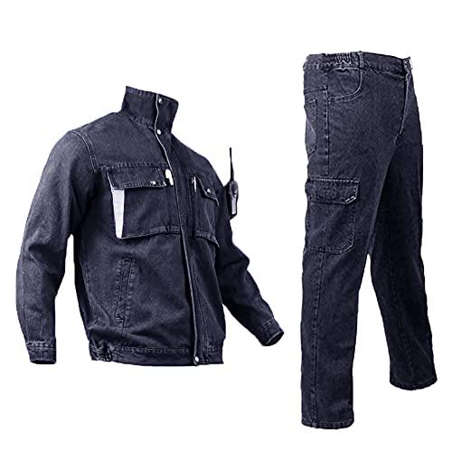 YJKJ Mono De Trabajo, Soldador Ropa Trabajo, Puro Algodón Usable Anti-Quemaduras Adecuado para Una Variedad De Trabajadores,4XL