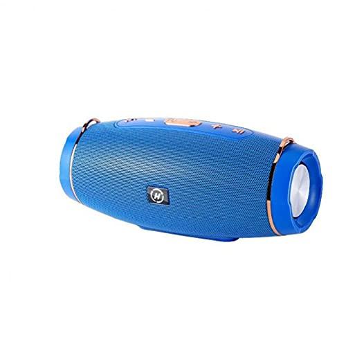 Altavoz Bluetooth impermeable inalámbrico Al aire libre Mini altavoces Bluetooth de interior 800 MAH Batería de alta capacidad 4 unidades Bajo 360 Grados Potente sonido envolvente Azul
