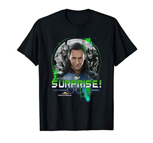 Marvel Thor Ragnarok Loki Surprise Green Pop T-Shirt