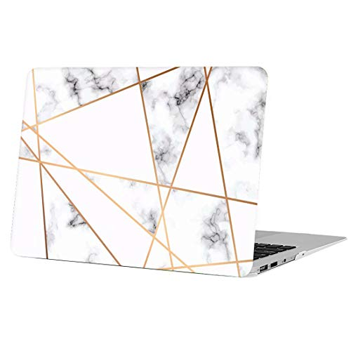 AUSMIX MacBook Pro Retina 13 Inch Case, [Geometric Figure Stitching Marble Series] Anti-scratch Plastic Shell Elegant for Mac Pro 13 with Retina Display (Models: A1425 & 1502) - Complex Line