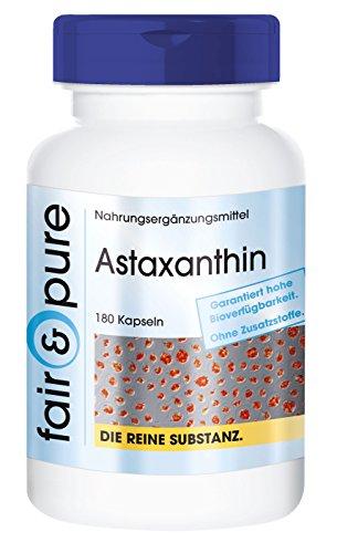 Astaxantina 7mg - Perlas de Astaxantina natural microencapsulada - AstaPure® - Alta pureza - 180 Cápsulas