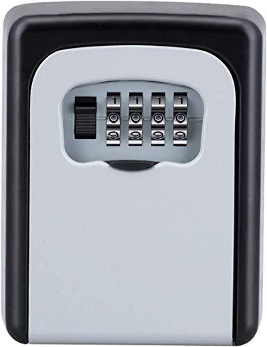 ZHEGE Schlüsseltresor mit Zahlencode für Draußen, Schlüsselbox mit 4-Stelliger Zahlenkombination, Klein Schlüsselkasten mit Code, Schlüsselsafe Wetterfeste für Hausschlüssel Versteck, AirBnB (Silber)