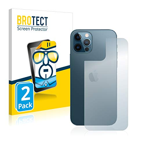 brotect Pellicola Protettiva Compatibile con Apple iPhone 12 PRO (Posteriore) Pellicola Trasparente (2 Pezzi) Anti-Impronte