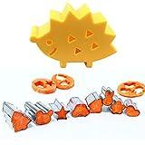 DYXYH 10 unids/Set Lindo Cortador de Galletas Animal con Erizo Mini Fondant Pastel decoración émbolo Galleta Bricolaje Molde niño horneado