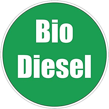 Finest Folia Aufkleber Biodiesel 8 Cm Rund Bio Diesel Bagger Lkw Transporter Auto Kfz R030 1 Auto