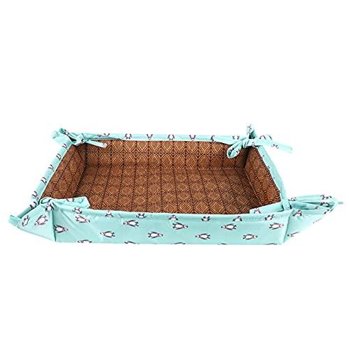 2 in 1 Katzenbett | Abnehmbare und Faltbare Haustier-Kühlmatte | Sommer Kühlmatte Atmungsaktiv Haustier Couch Katze Hund Isomatte | für Kätzchen Hund S/M/L