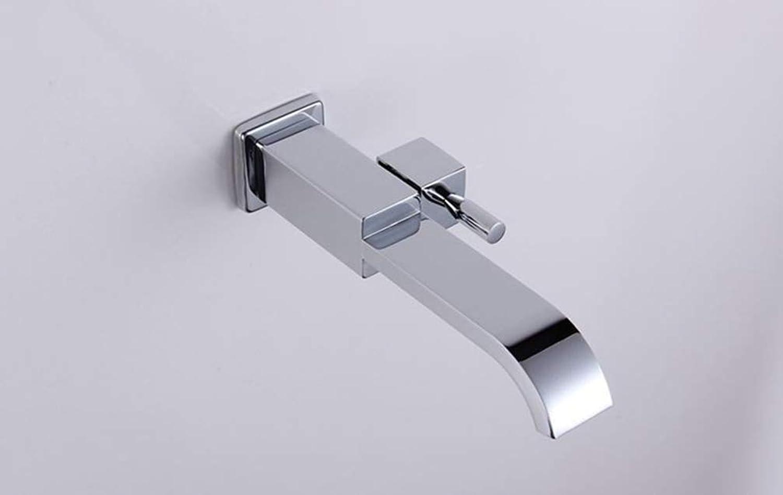 FZHLR Single Cold Faucet Bathroom Basin Sink Tap Chrome Single Cold Basin Faucet