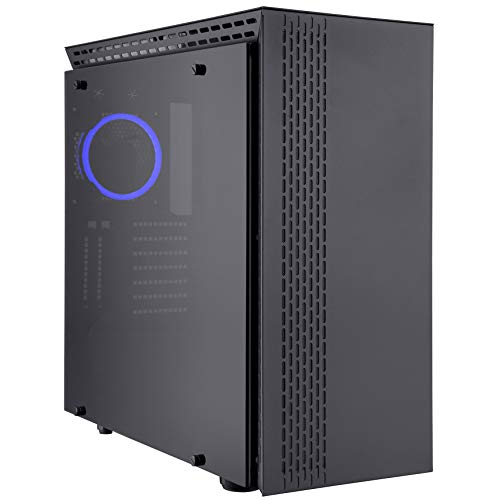 Rosewill Prism T ATX Mid Tower Gaming PC Computer Case with Tempered Glass, 4 Pre-Installed 120mm Fans, 420mm / 360mm / 240mm Radiator Support, EATX Support, Bottom Mount PSU Shroud and HDD/SSD