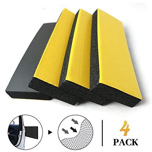Keliiyo 4 PCS Garage Wall Protector Car Door Protector Garage Wall Guard for Car Doors Self Adhesive NBR Foam Garage Car Door Protector Anti-Collision for Warehouse Parking Assist