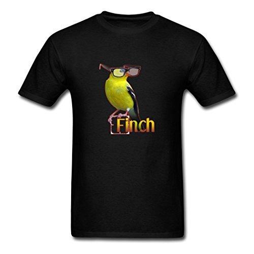 Sebastiane Custom Design Uomo's Person of Interest Finch T-Shirts Black