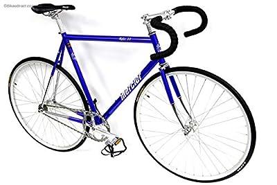 "Mercier Kilo TT Pro Reynolds 520 Steel Single Speed Track Bike Fixie Fixed Gear Bicycle (Blue/Chrome, 47cm(c-c) = 50cm(c-t) fits Most 5'3"" to 5'5"")"