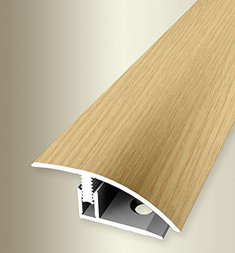 Parkettfreund 64401030 Perfil de compensación PF 556H, aluminio, lámina decorativa, 100 cm, Madera de roble claro