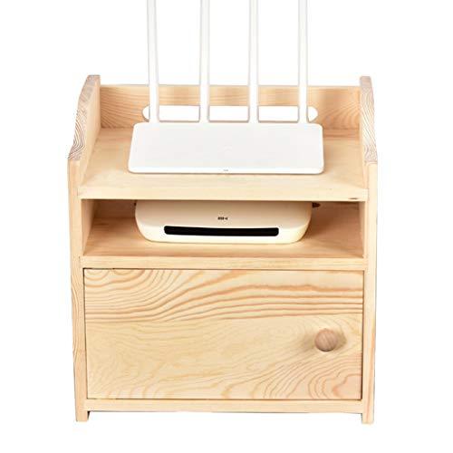 WWWANG Montado en la Pared WiFi Router Plataforma Set-Top Box Soporte Caja de Almacenamiento for los módems de Cajas de Cable Jugadores Streaming Media Devices (Color : Wall-Mounted)