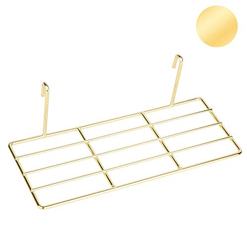 ZONYEO Straight Shelf Rack for Grid Wall Grid Panel Wall Mountable Wire Gold Wall Organizer Display Décor