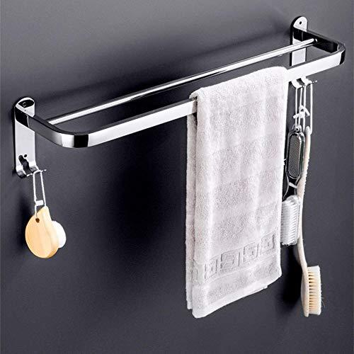 Barra de toalla para colgar en la pared de acero inoxidable 304 Toallero de barra doble para baño doméstico-58cm