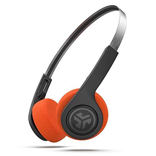 JLab Audio Rewind Retro Auriculares Inalambricos Bluetooth, Doce Horas de Tiempo de Reproducción, Reproducción de Sonido EQ3 Personalizada y Pausar su Música & Colgar Llamadas Telefónicas, Negro