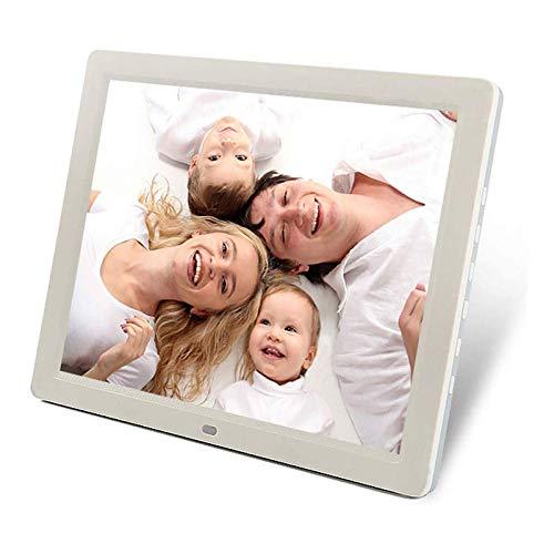 HZWDD Pantalla LCD LED de Alta definición con Marco de Fotos electrónico de 12 Pulgadas 1280 * 800, Compatible con Tarjeta USB/MS/SD/MMC, con Calendario de Reloj de reproducción de imágenes/Vid