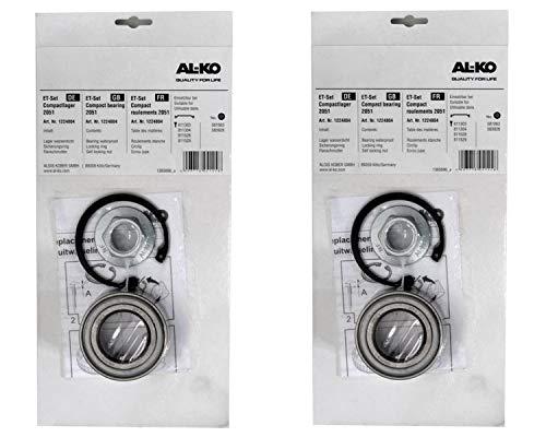 FKaanhangeronderdelen 2 x ALKO - Wiellager 1224804 lager 72/39x37 mm + wielmoer + zekering