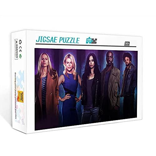 Puzzle para adultos 500 piezas Jessica Jones Family movie star poster puzzle, desafío intelectual, juguete educativo 20,5 x 14,5 pulgadas rompecabezas clásico