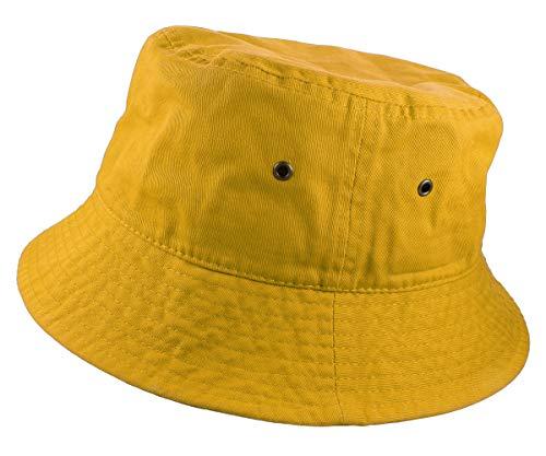Gelante 100% algodón plegable para pesca, caza, verano, viajes, sombrero, Oro, Small-Medium