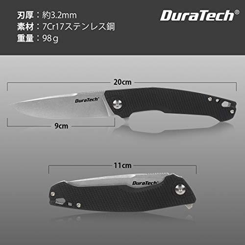 DURATECHフォールディングナイフ折りたたみナイフナイフサバイバルナイフレスキューナイフG10ハンドル