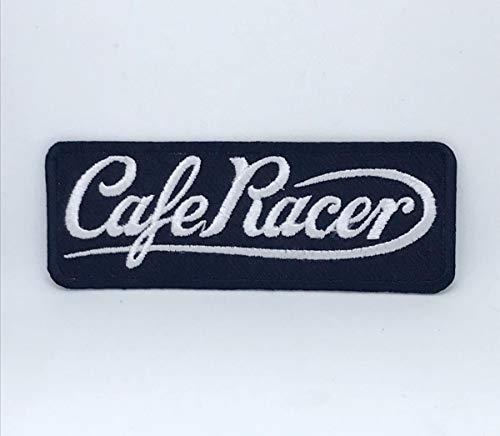 Parche bordado con el logotipo de Cafe Racer para coser o planchar