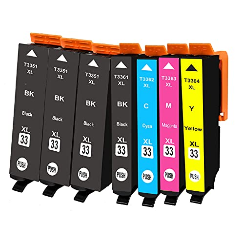 BADA 33 XL - Cartucho de tinta compatible con Epson Expression Premium XP-530 XP-540 XP-630 XP-635 XP-640 XP-645 XP-830 XP-900 (7 unidades)
