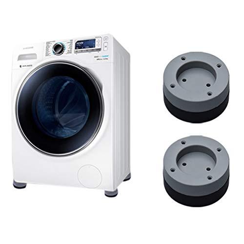 Kikier - Set di 4 piedini antiscivolo per lavatrici e asciugatrici, con tecnologia in gomma, ideali per ridurre le vibrazioni e ammortizzatori 4 cm B