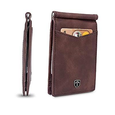 "TRAVANDO Money Clip Wallet""DETROIT"" Mens Wallet Front Pocket Wallet Slim Wallets RFID Blocking - Credit Card Holder - Minimalist Mini Bifold Gifts for Men"