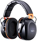 Adult Ear Defenders, TACKLIFE Noise Canceling Ear Muffs, SNR 34dB Noise Blocking (Shooting /Construction /Yard Work) Ear Protectors - HNRE1