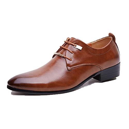 Geschäfts Schuhe der Männer Arbeiten Spitze Vintage Leder schnür Schuhe der formellen Kleidung der Stadt städtische Arbeitsschuhe vor