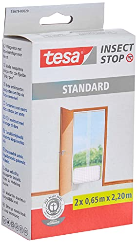 tesa TE55679-00020-03 Malla Standard para puertas 2 telas de 0.65cm x 2.2m blanca