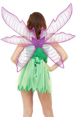Smiffys Pixie Fairy Wings Alas de hada, color morado, (50767)