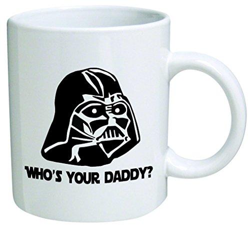 """Star Wars """"¿Quién es tu papá""""? Día del padre Taza de café Coleccionable Novelty 11 Oz Nice Valentine Souvenirs inspirational y motivacional"""