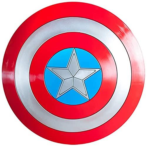 Vengadores Capitán América escudo signo de disfraz de plástico adulto talla única América hombres accesorios señal de cosplay 57Cm, modelo de escudo